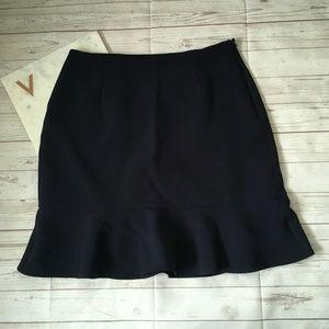 ann taylor womens 10 navy flare skirt blue career
